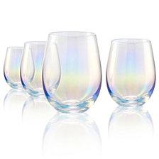 Artland Set of 4 Luster Purple Stemless 16oz. Glasses