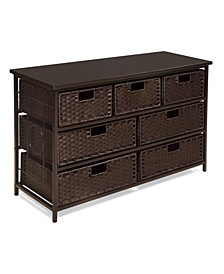 August Collection Wide Seven Basket Storage Unit