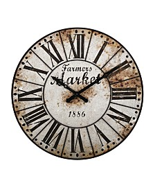 Imax Farmers Market Oversized Wall Clock