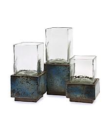 Imax Cubo Terracotta Hurricanes - Set of 3