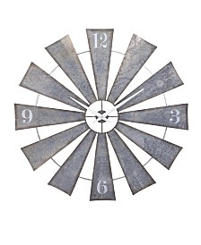Imax Ward Metal Windmill Wall Clock