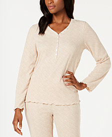 Ande Waffled Henley Pajama Top