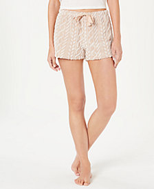 Ande Frosted Cable Cut Pile Plush Pajama Shorts