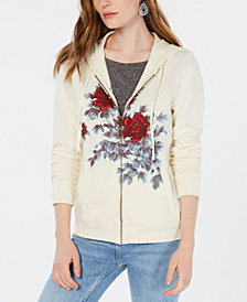 Lucky Brand Watercolor Floral-Graphic Hoodie