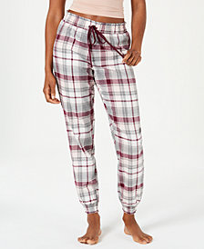 Jenni Printed Cotton Woven Knit Pajama Pants, Created for Macy's