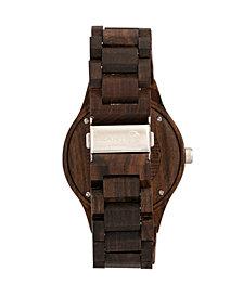 Earth Wood Cherokee Wood Bracelet Watch W/Magnified Date Brown 48Mm