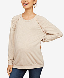 Motherhood Maternity French Terry Sweatshirt