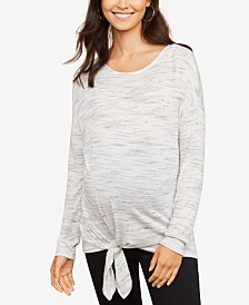 Motherhood Maternity Tie-Front Top
