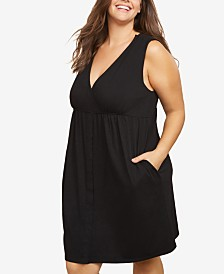 Motherhood Maternity Plus Size Nursing Nightgown