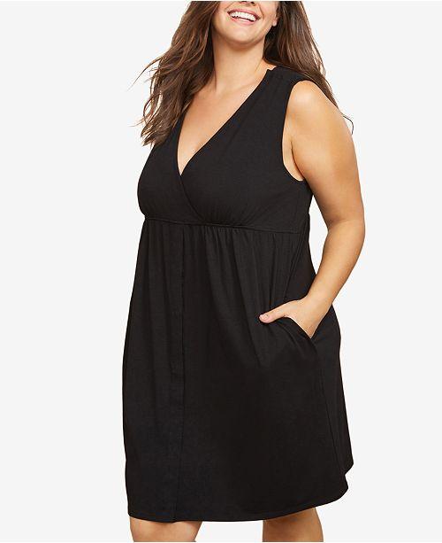 Motherhood Maternity Plus Size Nursing Nightgown