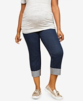 79ff8755a Motherhood Maternity Plus Size Cropped Jeans