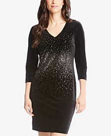 Karen Kane Metallic-Print Sheath Dress