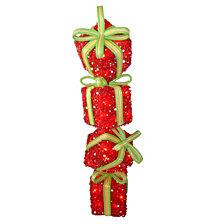 "National Tree PreLit 34"" Sisal Gift Box Stack"