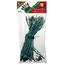National Tree Company Ready-Lit® Premium 50 Bulb Light String Set, Multicolor