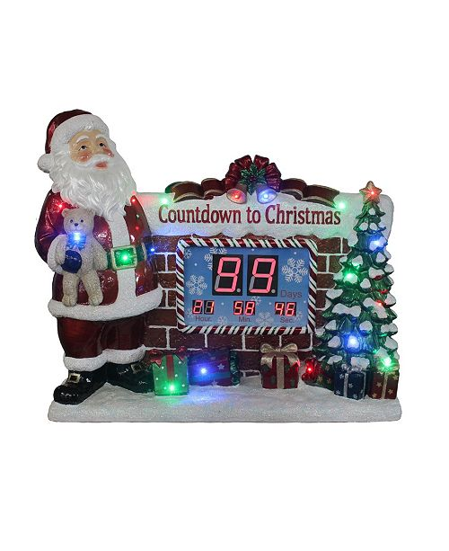 Countdown To Christmas Clock.33 5 Santa Countdown To Christmas Clock Withled Lights Music