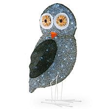 """National Tree Company 37"""" Pre-Lit Fuzzy Owl"""