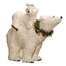 "National Tree 14.5"" Polar Bear with Baby"