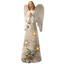 """National Tree 11.6"""" Polyresin Angel with LED Lights"""