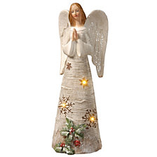 "National Tree 11.6"" Polyresin Angel with LED Lights"