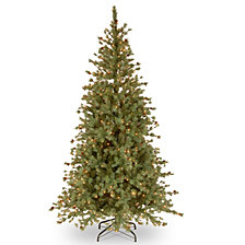National Tree 7 .5' Shenandoah Blue Pine Tree with Small Cones 500 Clear Lights