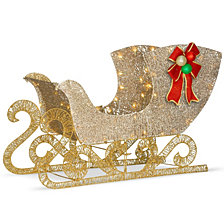 "National Tree 38"" Santa's Sleigh with LED Lights"