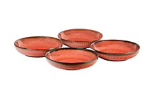 Sango Glyph Red Set of 4 Dinner Bowls