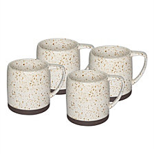 Sango Nester White Set of 4 Mugs