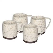 Sango Nester White Set of 4 Mugs