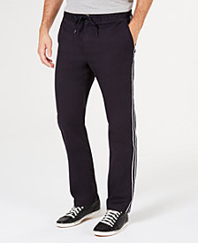 Club Room Men's Stretch Drawstring Side Stripe Pants, Created for Macy's