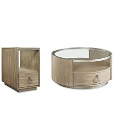 Esme Table 2-Pc. Set (Round Coffee Table & Chairside Table)
