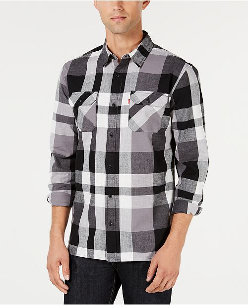 brand new f2e65 57680 Levi's Men's Stuttgart Plaid Shirt & Reviews - Casual Button ...