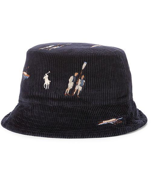 fbf32f3d11e ... Bucket Hat  Polo Ralph Lauren Men s Reversible Chino Bucket ...