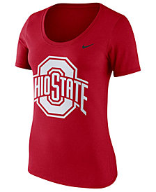 Nike Women's Ohio State Buckeyes Dri-Blend Scoop T-Shirt