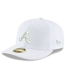New Era Atlanta Braves Triple White Low Profile 59FIFTY Fitted Cap