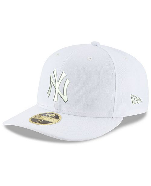 super cute 08703 a5502 ... New Era New York Yankees Triple White Low Profile 59FIFTY Fitted Cap ...