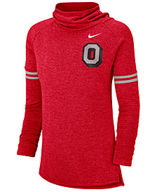 Nike Women's Ohio State Buckeyes Funnel Neck Long Sleeve T-Shirt