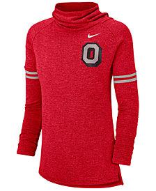 Nike Women's Ohio State Buckeyes Funnel Neck Long Sleeve T-Shirt