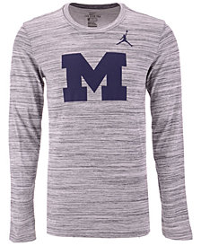 Nike Men's Michigan Wolverines Legend Travel Long Sleeve T-Shirt