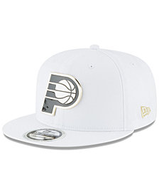 New Era Indiana Pacers White Enamel 9FIFTY Snapback Cap