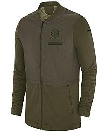 Nike Men's Pittsburgh Steelers Salute To Service Elite Hybrid Jacket