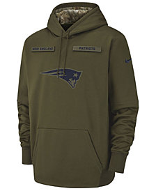 Nike Men's New England Patriots Salute To Service Therma Hoodie