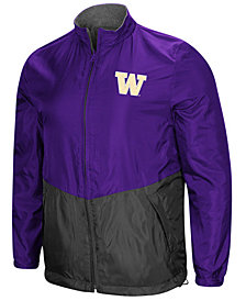 Colosseum Men's Washington Huskies Halfback Option Reversible Full-Zip Jacket
