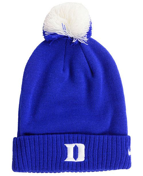 00ba6653adb Nike Duke Blue Devils Beanie Sideline Pom Hat   Reviews - Sports Fan ...