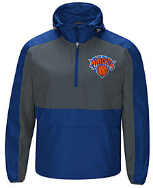 G-III Sports Men's New York Knicks Leadoff Lightweight Half-Zip Jacket