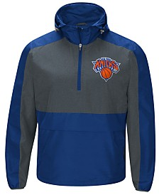 G-III Sports Men's New York Knicks Leadoff Lightweight Half-Zip Jacket