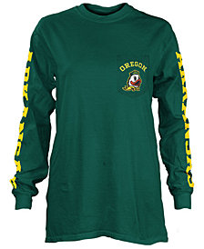 Pressbox Women's Oregon Ducks Long Sleeve Pocket T-Shirt