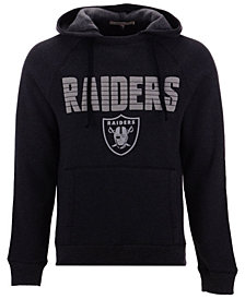 Authentic NFL Apparel Men's Oakland Raiders Out & Up Hooded Sweatshirt