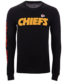 Authentic NFL Apparel Men's Kansas City Chiefs Streak Route Long Sleeve T-Shirt