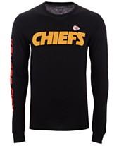 9e935a99e34 Authentic NFL Apparel Men's Kansas City Chiefs Streak Route Long Sleeve T- Shirt