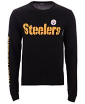 53d19cf30 Authentic NFL Apparel Men s Pittsburgh Steelers Streak Route Long Sleeve T- Shirt